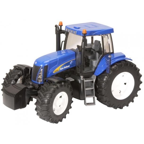 bruder traktor blå